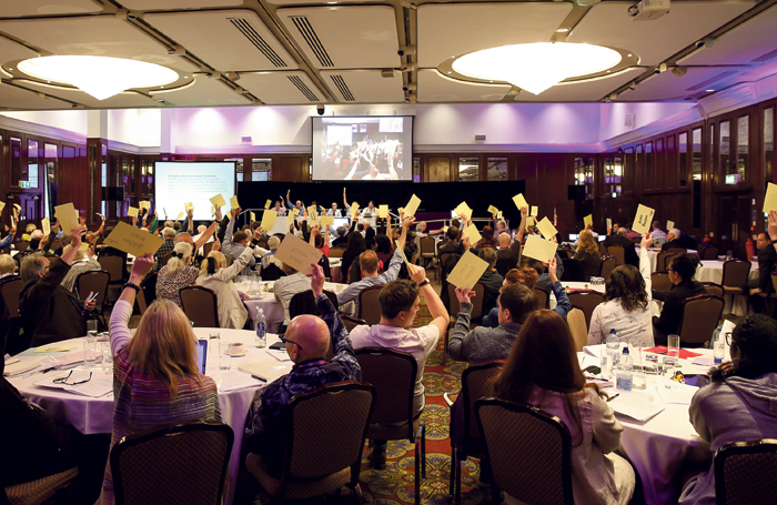 Casting votes at this year's Equity Annual Representative Conference. Photo: Phil Adams