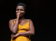 Temi Wilkey in Land Without Dreams at Gate Theatre, London. Photo: Cameron Slater