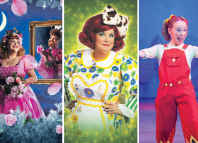 Cinderfella at the Tron Theatre, Glasgow, Elaine C Smith as Dame Trot at the King's Theatre, Glasgow and and Jane Deane as Jenny the Jester at the Capitol Theatre, Horsham, in 2012 (photoby Toby Phillips).
