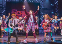 School of Rock (2016 cast pictured here), produced by Andrew Lloyd Webber's LW Theatres, which recently partnered with ethical secondary ticketing site Twickets. Photo: Tristram Kenton