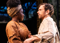 Joaquina Kalukango and Paul Alexander Nolan in Slave Play. Photo: Matthew Murphy