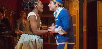 Chioma Uma and Guy Freeman in Cinderella at Artsdepot. Photo: Aenne Pallasca