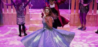 Eilidh Weir and Lewis Lauder in Cinderella at the Brunton Theatre