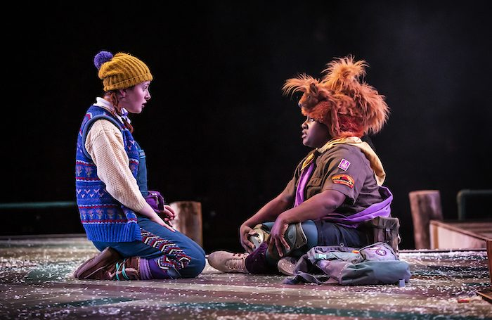 Lauren Waine and Hannabiel Sanders in the Snow Queen at Northern Stage. Photo: Pamela Raith