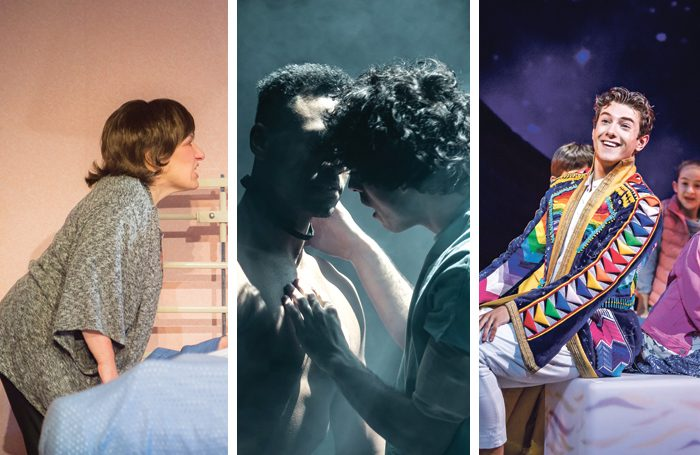 From left: Beverley Klein in In Basildon, Ira Mandela Siobhan and Ethan Kai in Equus, and Jac Yarrow in Joseph. Photos: Mark Sepple/The Other Richard/Tristram Kenton