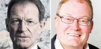 Nicholas Serota and Darren Henley. Photos: Hugo Glendinnig/Arts Council England