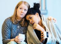 Letty Thomas and Rebekah Murrell in rehearsals  for Scenes With Girls. Photo: Helen Murray