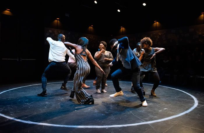 The cast of What to Send Up When It Goes Down, which is a part of this year's Under the Radar festival in New York. Photo: Ahron R Foster