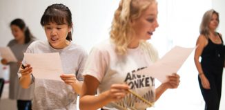 Students at the Royal Central School of Speech and Drama. Photo: Patrick Baldwin