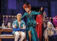Noah Thomas and Bianca Del Rio in Everybody's Talking About Jamie at the Apollo Theatre. Photo: Matt Crockett