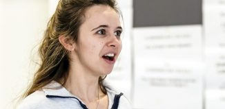 Jessica Rhodes in rehearsals for The Sugar Syndrome. Photo: The Other Richard