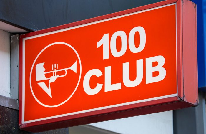 Music venue the 100 Club has been granted special status by Westminster City Council, qualifying for 100% relief from business rates. Photo: Shutterstock